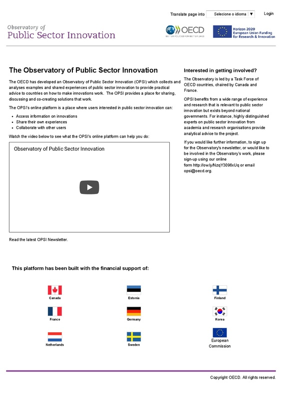 Observatory of Public Sector Innovation