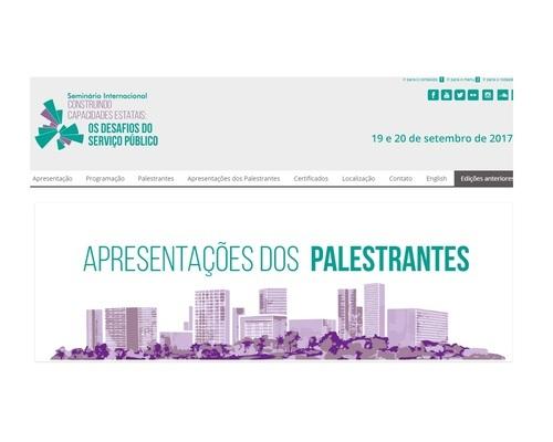 Seminário Internacional Construindo Capacidades Estatais: os Desafios do Serviço Público