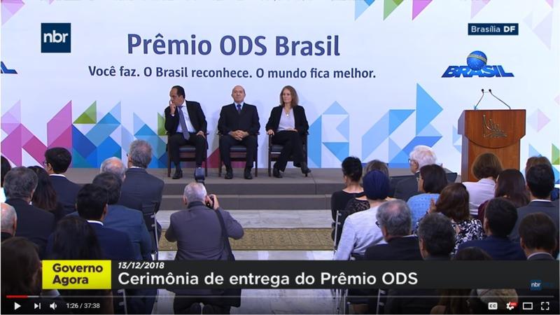 Cerimônia de entrega da primeira edição do Prêmio ODS Brasil (2018)