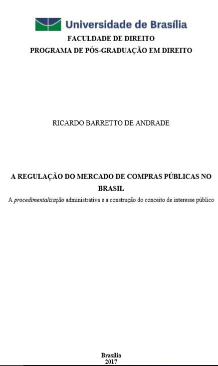 A Regulação do Mercado de Compras Públicas no Brasil
