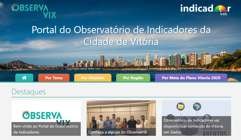 Portal do Observatório de Indicadores da Cidade de Vitória