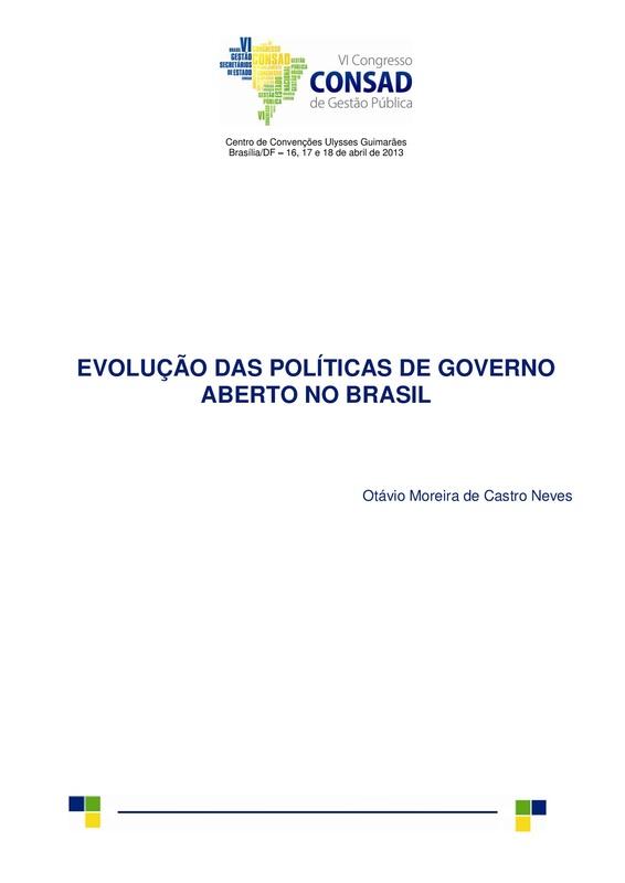 Evolução das Políticas de Governo Aberto no Brasil