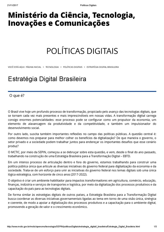 Estratégia Digital Brasileira