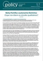 Bolsa Família e autonomia feminina: O que nos dizem os estudos qualitativos?