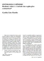 Ontologia e gênero: realismo crítico e o método das explicações contrastivas